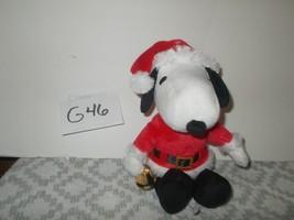 Musical Santa Snoopy Plush Toy - $9.99