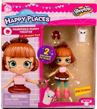 Shopkins Happy Places Kiki Creme & 2 exclusive Petkins  Lil' Shoppie Pack S3 - $9.99