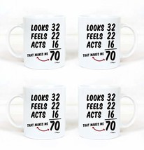 Funny 70th Birthday Gifts 4 Pack Bundle Gag Mug For 1949 Men and Women. ... - $58.46