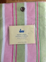 New Pottery Barn Kids Shower Curtain Pink Green Stripes - $58.00