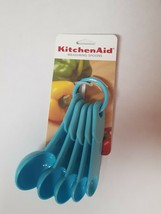 TURQUOISE 5 PC KITCHENAID MEASURING SPOON SET - $9.99