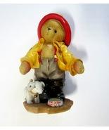 Enesco 1996 Cherished Teddies Fireman Kurtis D. Claw & His Dog Spot Figu... - $6.99
