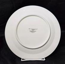 """Retroneu Calais Dinner Plates Set of 2, 10.5"""" White w Gold Trim 4173 image 4"""
