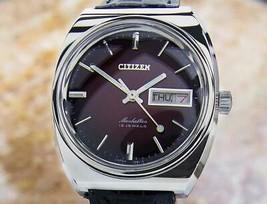 Mens Citizen Manhattan 37mm Manual Wind w/Day Date, c.1970s Vintage Dx36 - $861.81