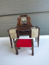 Vintage Concord Miniatures Doll House Furniture Bedroom Dressing Table B... - $18.49