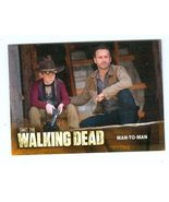 The Walking Dead trading card #69 Man to Man Rick Grimes Carl Grimes Fat... - $4.00