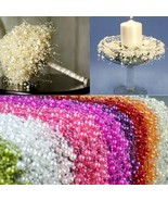 Decoration Table 5m DIY Garland Artificial Pearl Beads Chain Wedding Flower - $3.72+