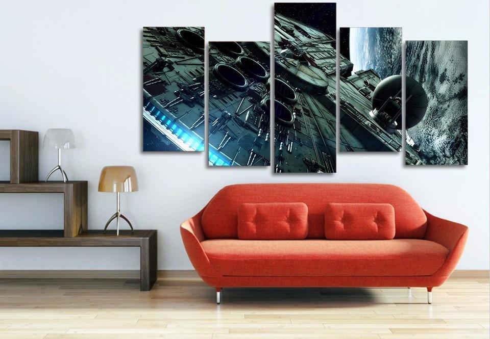 Millennium Falcon Star Wars 5 Pieces Canvas for sale  USA