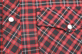 Men's Western Pearl Snap Button Down Short Sleeve Plaid Cowboy Dress Shirt - L image 3