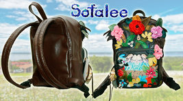 Handmade Leather Backpack, Exclusive Women's Backpack, Genuine Leather Backpack. image 2