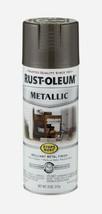Rust-Oleum DARK BRONZE Stops Rust METALLIC Finish 11 oz Spray Shiny 7272... - $12.99