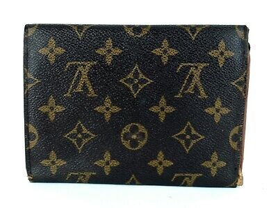 Primary image for Auth Louis Vuitton Monogram Canvas Porte-Tresor Pochette Trifold Passport Wallet