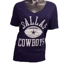 Dallas Cowboys Authentic Women's NFL Alford Glitter L V-Neck T-Shirt $32 - $28.80