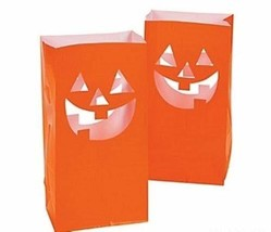 12 HALLOWEEN Party Decoration PUMPKIN FACE Walkway JACK O LANTERN LUMINARY - £21.23 GBP