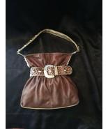 Kathy van Zeeland Belted Leopard Print Shoulder Bag, EUC - $44.10