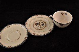 Vintage Royal Doulton Old Colony Teacup Saucer & Bread / Snack Plate 3pc - $8.13
