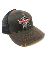 PBR PROFESSIONAL BULL RIDERS BROWN SUEDE BLACK MESH TRUCKER CURVED BILL ... - $17.05