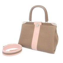 LOUIS VUITTON Astrid Calf Leather Taupe M54374 Handbag 2Way Shoulder Bag Italy - $3,901.20