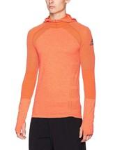 adidas Mens Running Climaheat Long Sleeve Hoody Energy Medium BQ4766 MSR... - $75.55