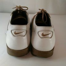 Nike Air Classic Plus White & Brown Saddle Golf Shoes Size 9 image 11