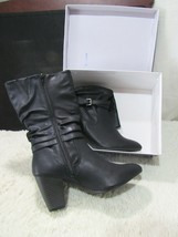 White Mountain Black Desiree Woman's Medium Two to Three Inch Heel Boot - £32.94 GBP