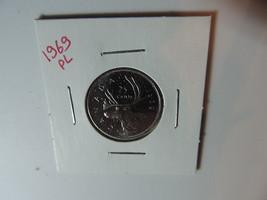 1969 Canadian Quarter coin A741 - $3.41