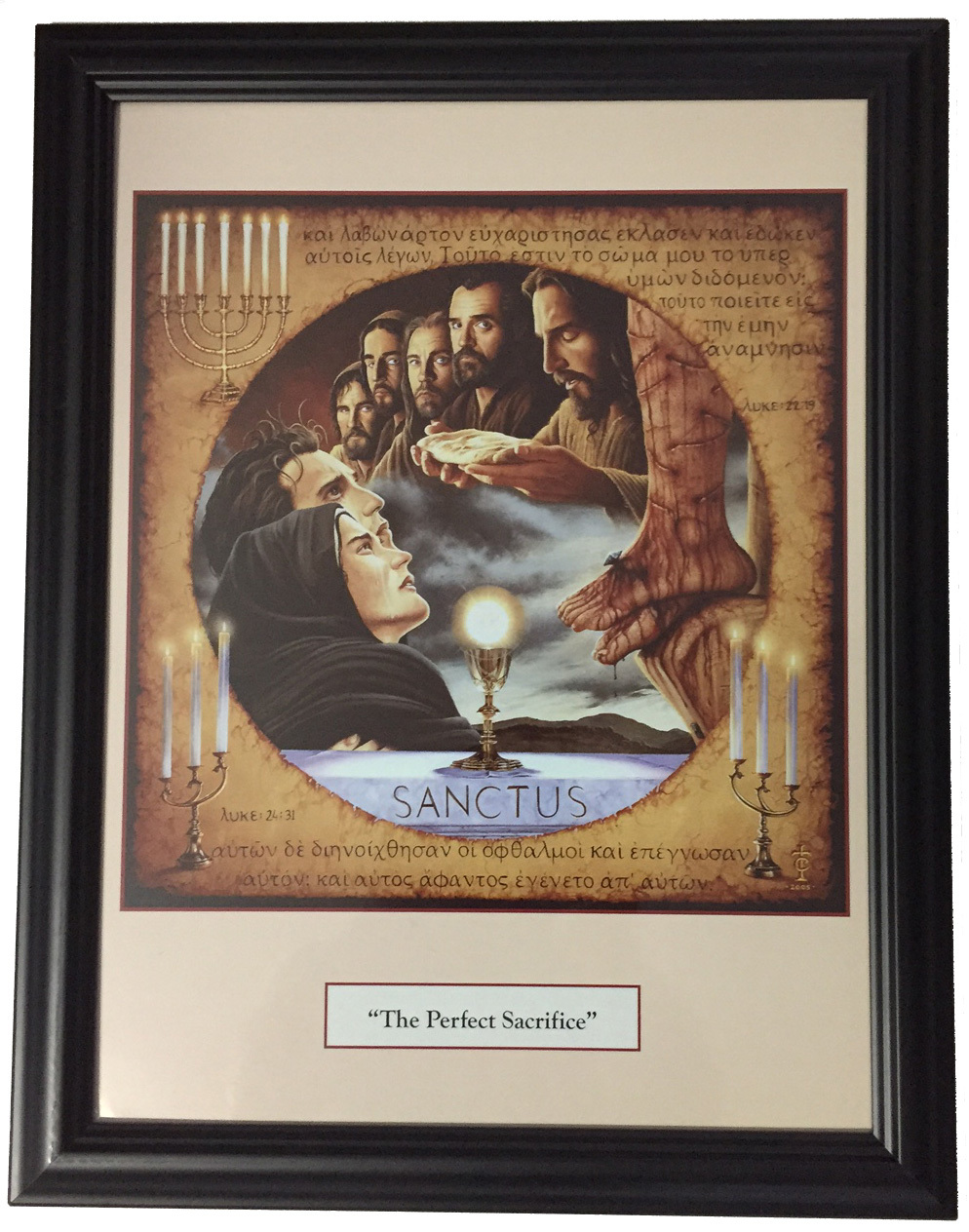 The perfect sacrifice   print framed by tommy canning