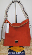Dooney & Bourke Suede Small Sloan Hobo Bag Brick Color - $218.00