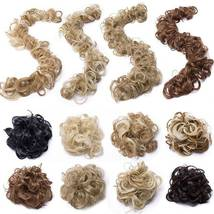 100% Real LARGE Thick Messy Bun Hairpiece NaturalHair Extension Curly image 5