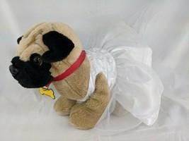 Build a Bear Pug Dog Plush Wedding Dress Panties Lot Stuffed Animal Toy - $19.95