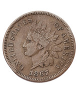 1867 Indian Head Cent 1C Penny (Very Fine+, VF+) - €100,55 EUR