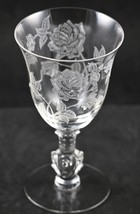 Rose Etch No. 515, Low Footed, Waverly, Comport, made by A. H. Heisey - $24.00