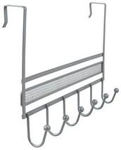 DecoBros Over Door 6 Hook Organizer Rack Silver Hooks Hangers Home Organ... - $23.85 CAD