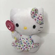 "TY Hello Kitty Beanie Plush Stuffed Animal Sanrio Lollipop Polka Dots 6""... - $15.75"