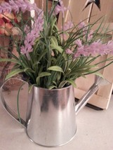 Decorative water pitcher with flowers, home accents, decor. table decor - $11.30