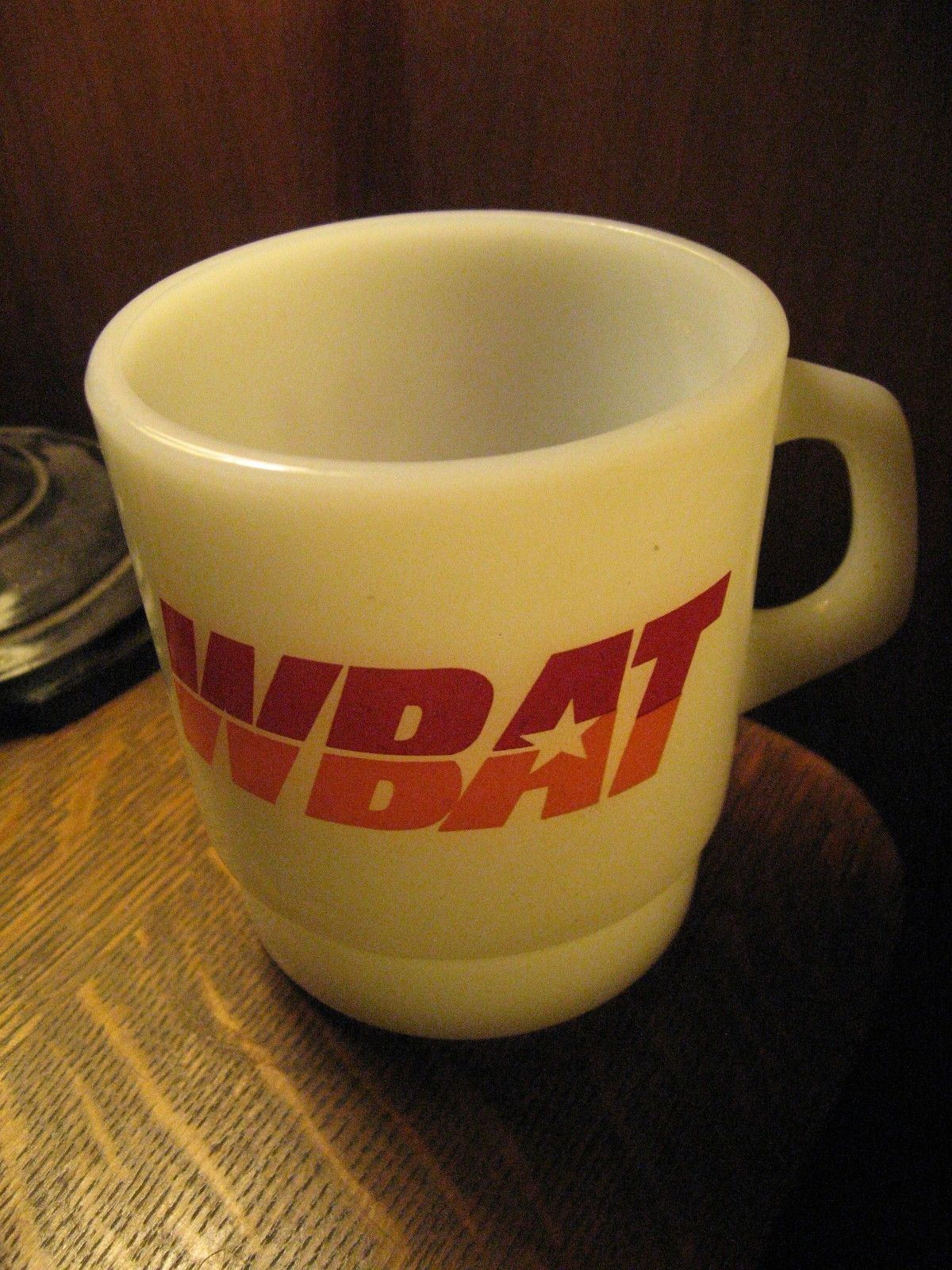 Wbat Talk Am Radio Marion Indiana USA Vintage Galaxy Verre Tasse à Café Gobelet