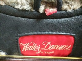 Walter Davoucci Women  Lambskin Leather Shearling Jacket Sz Medium Coat image 2