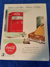 "1948 Original Coca Cola Magazine ad Drive Refreshes Have a Coke 10 1/2""x... - $17.05"