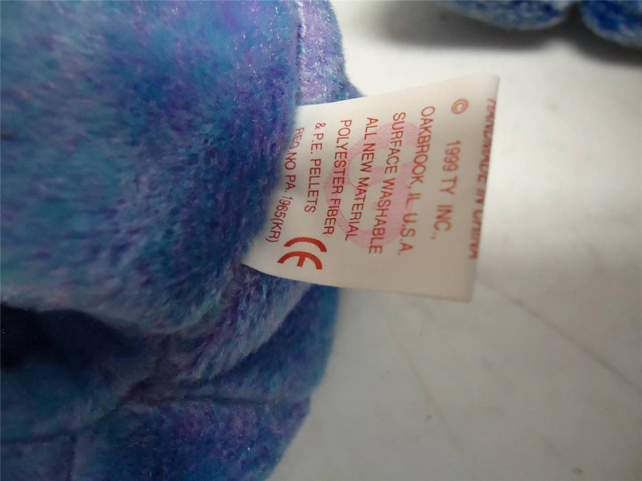Ty Beanie Baby Bears Fortune 1997 Periwinkle 2000 Clubby II 1999 Lot of 3
