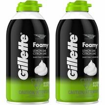 Gillette Foamy Shaving Cream, Lemon-Lime - 11 oz - 2 pk - $17.89