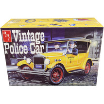 Skill 2 Model Kit 1927 Ford T Vintage Police Car 1/25 Scale Model by AMT... - $61.28