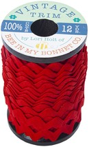 "Riley Blake Large Vintage Trim 3/8""X12yd-Riley Red - $18.89"