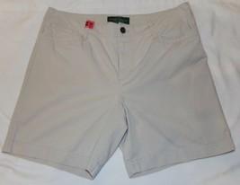 Lauren Ralph Lauren Jeans Beige Casual Shorts Womens 10P 10 Petite - $19.26