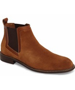 Mens Kenneth Cole NY Design 108952 Chelsea Boots - Camel Suede, Size 8 - $139.99