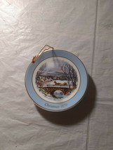 Avon Miniature Christmas Plate Collection Ornament DASHING THROUGH THE S... - $8.49