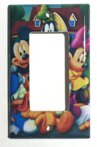 Mickey Minnie Donald Duck Light Switch Power Outlet wall Cover Plate Home decor image 6