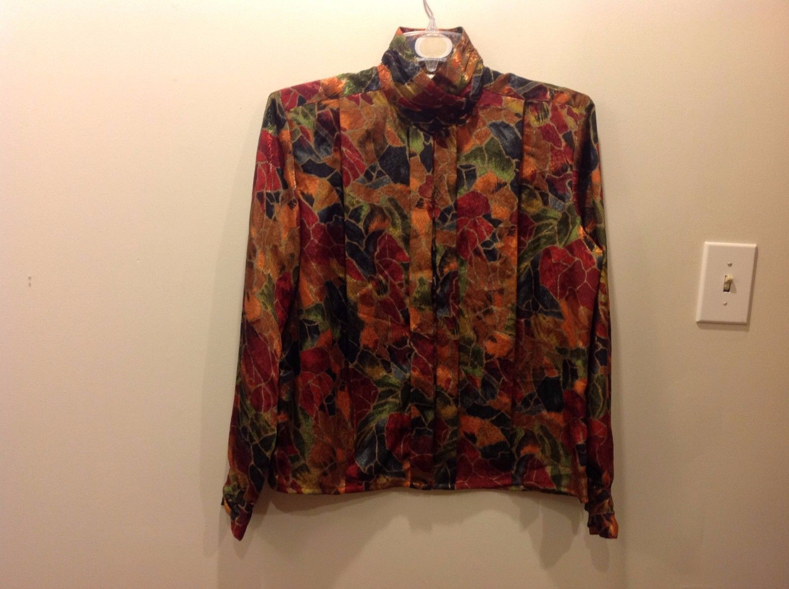 EJ Harper Colorful Abstract Patterned Button Up Sz 10