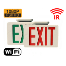 HIDDEN CAMERA EXIT SIGN | HD 1080P | WIFI REMOTE VIEW | NIGHT VISION | USA - $599.00