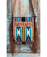 American Darling Maroon Serape Saddle Blanket Tote w/Fringe - $114.99