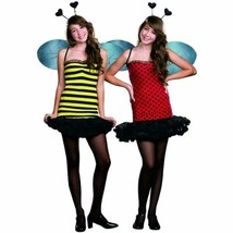 Dreamgirl Girl's Juniors Reversible Buggin Out Bee Halloween Costume 6020 Size S - $21.62